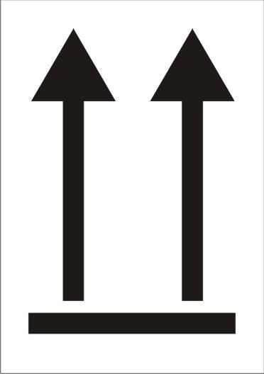 Transportetikett Symbol oben