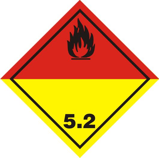 Gefahrgutaufkleber Klasse 5.2