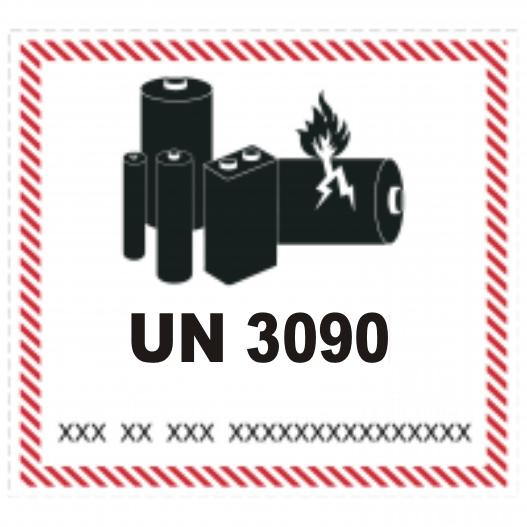 Lithium Batterien mit UN 3090