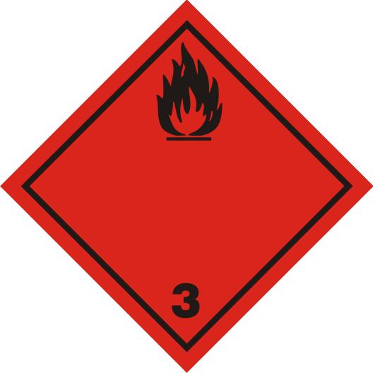 Gefahrgutaufkleber Klasse 3