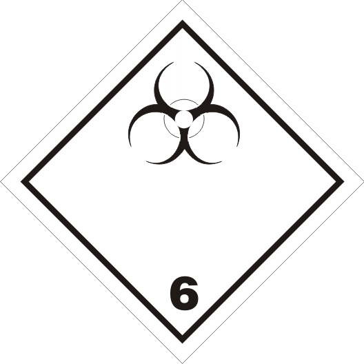 Gefahrgutaufkleber Klasse 6.2