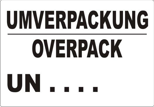 UMVERPACKUNG / OVERPACK UN ....