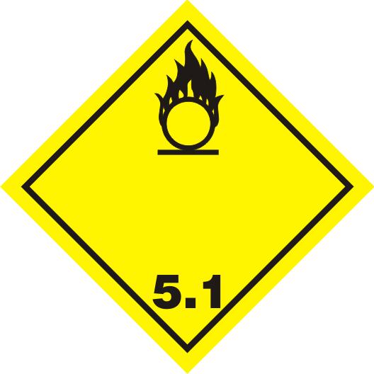 Gefahrgutaufkleber Klasse 5.1