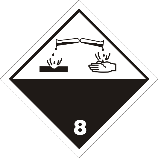 Gefahrgutaufkleber Klasse 8