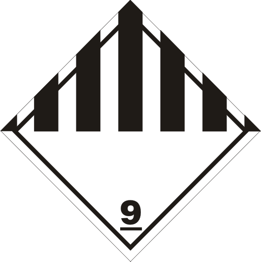 9. Gefahrgutaufkleber / Gefahrzettel Klasse 9